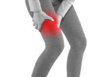 Human Calf pain with medical health care concept. Stock Photo