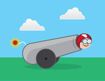 Human Cannonball Royalty Free Stock Photo
