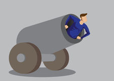 Human Cannonball Vector Illustration Stock Image