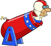 Human cannonball Stock Image