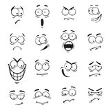 Human cartoon emoticon faces with expressions Stock Photo