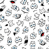 Human cartoon emoticon pattern with blue eyes royalty free illustration