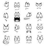 Human cartoon eyes emoticons symbols Stock Photos