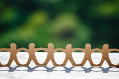 Human Chain Outdoor Stock Photo