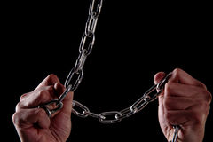 Human and chains Royalty Free Stock Photos