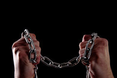 Human and chains Royalty Free Stock Image