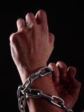 Human and chains Stock Image
