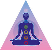 Human_chakra_system Royalty Free Stock Images