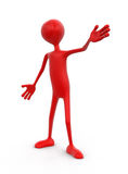 Human character (clipping path included) Royalty Free Stock Photo