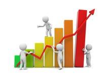 Human character and graph Stock Image