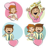 The human characters on the theme of love. Stock Image