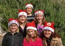 Human Christmas tree stock image