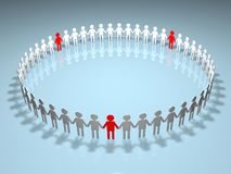 Human Circle Royalty Free Stock Image