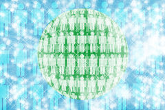 Human circle abstract background. Royalty Free Stock Images