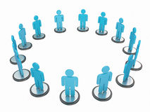 Human circle. 3d high quality render Royalty Free Stock Photography