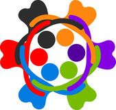 Human circle logo. Illustration art of a human circle logo with isolated background Stock Photo