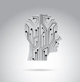 Human circuit. Over gray background vector illustration Stock Photos