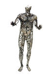 Human circulatory system statue. Human circulatory system - metal sculptures Stock Photo