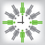 Human clock conceptual illustration Royalty Free Stock Photos