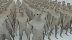 Human Clone Manufacturing. 3d rendering. Human Clone Manufacturing Stock Image