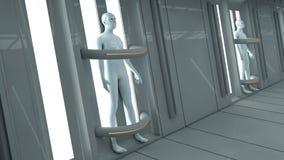 Human Clone Manufacturing. 3d rendering. Human Clone Manufacturing Stock Photo