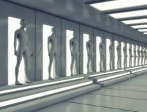 Human clone unit. 3d render. Human clone unit Royalty Free Stock Photos