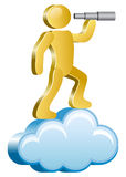 Human on a cloud Royalty Free Stock Photos