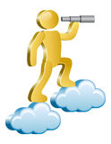 Human on a clouds Royalty Free Stock Image
