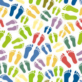 Human colorful footprints simple seamless pattern eps10 Royalty Free Stock Photography
