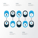 Human Colorful Icons Set. Collection Of Head, Business, Female And Other Elements. Also Includes Symbols Such As Stairs Royalty Free Stock Image