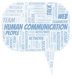 Human Communication word cloud. Wordcloud made with text only stock illustration