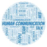 Human Communication word cloud. Wordcloud made with text only vector illustration