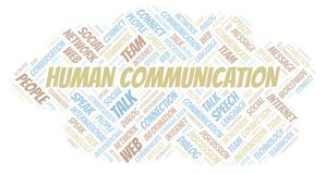 Human Communication word cloud. Wordcloud made with text only royalty free illustration