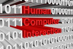 Human computer interaction Royalty Free Stock Photography
