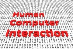 Human computer interaction Royalty Free Stock Photo