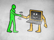 Human and Computer Stock Photos