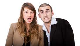 Human couple expression Stock Image