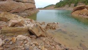 Human creature. Lake from coal mining at south Kalimantan Royalty Free Stock Images