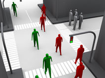 Human crossroad #3 Stock Images