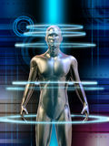 Human cyborg vector illustration