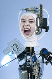 Human Cyborg Robot Royalty Free Stock Images