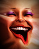Human Distorted Face 8. An conceptual image of a happy female human face that has been distorted Stock Image