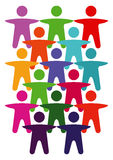 Human Diversity Symbols Stock Image