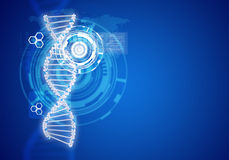 Human DNA. Background of white ring with hexagon Royalty Free Stock Images