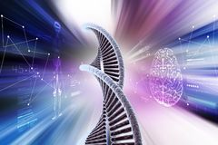 Human dna Royalty Free Stock Photography