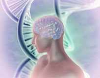 Human dna genetic modifications abstract illustration. Stock Photography