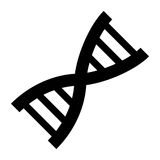 Human dna symbol. Icon  illustration graphic design Royalty Free Stock Photography