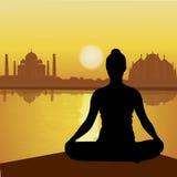 Human doing yoga Royalty Free Stock Images