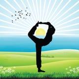 Human doing yoga vector illustration