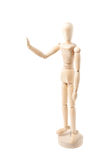 Human doll puppet statuette isolated Stock Images
